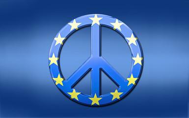 EU Flag Peace Symbol