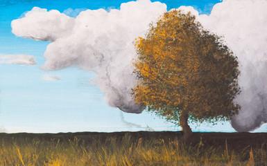 Landscape, Paint on canvas