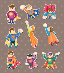 Foto op Canvas Superheroes superman stickers
