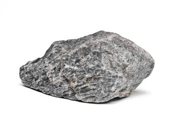 Rock boulder isolated on white