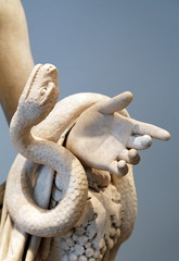 Serpent et main