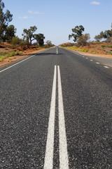 lonely asphalt road