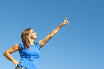 Happy, positive, optimistic woman