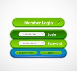 Vector web login form
