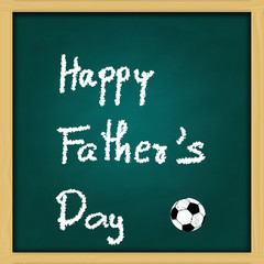 father's Day - love  dad message on green chalkboard