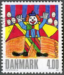 DENMARK - 2002: shows Clown, by una Ostergard