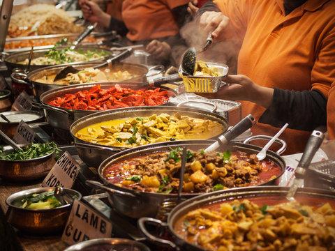 Indian food at London market