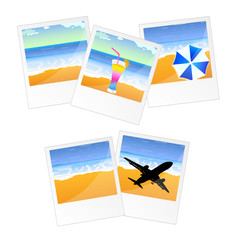 travel picture and frame vector illustration