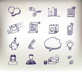 Sketchy doodle icon set