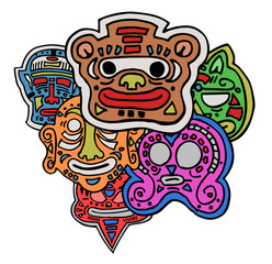 Carnival color mask