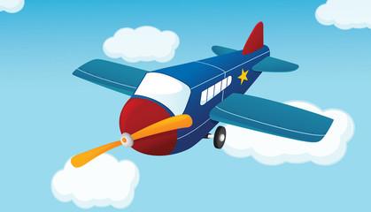 Spoed Fotobehang Vliegtuigen, ballon Airplane