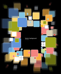 abstract cube technology Design vector background