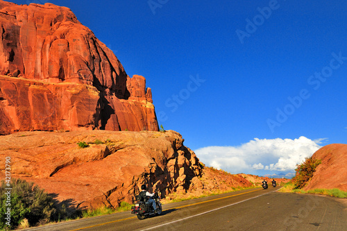 Wall mural Bikes in Arches National Park, Moab, Utah