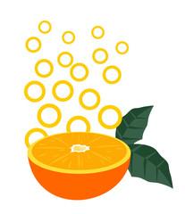 Orange fruit style