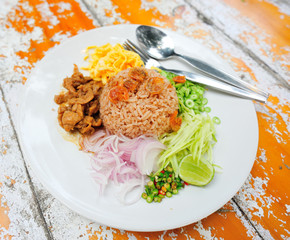 Fried rice with shrimp paste.
