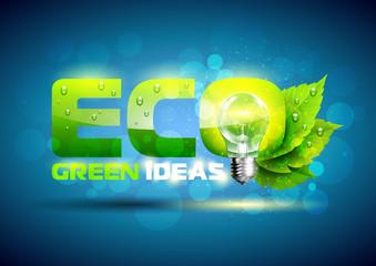 Green Energy Concept. Vector Illustration