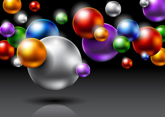 Abstract background with colored balls