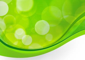 Green wavelike background Kubby Bubbles 2