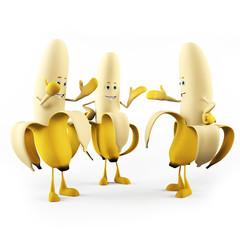 3d rendered illustration of a funny banana