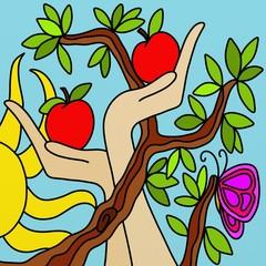 albero di mele