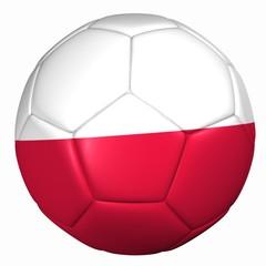 3d balón bandera Polonia