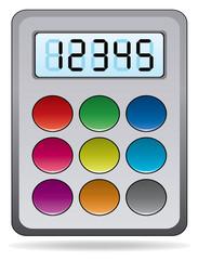 vector colorful calculator