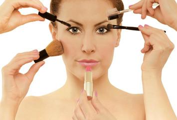 Makeup applying