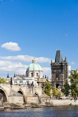 Acrylic Prints Historical buildings Charles bridge, Prague, Czech Republic
