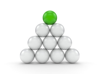 Individuality balls 3d render illustration