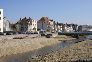 Apartments by river at Wimereux. France