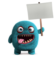 Photo sur Plexiglas Doux monstres cute furry monster
