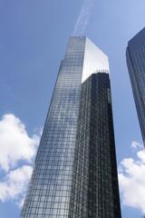 Foto auf Leinwand An der Decke Hochhäuser Frankfurt