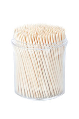 Packaging of new toothpicks. On a white background.