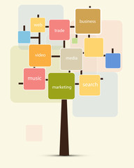 abstract technology cube tree for your text