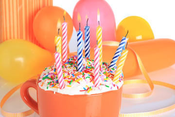Birthday candles, also available in vertical.