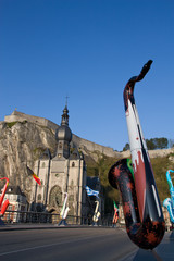 Dinant giant saxophones exhibitions