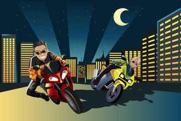 La pose en embrasure Motocyclette Motorcycle racers