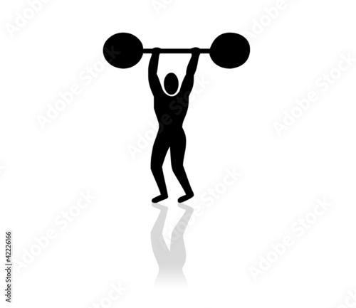 Bonhomme musculation photo libre de droits sur la banque - Musculation dessin ...