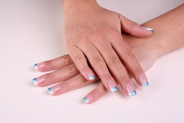 Aluminium Prints Manicure Nägel und Busen