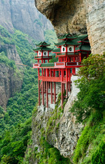 Fotorollo Tempel Chinese temple in mountainside
