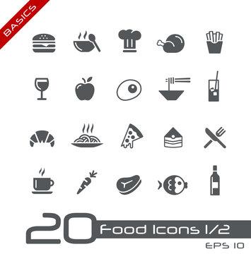 Food Icons - Set 1 of 2 // Basics