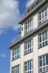 Fassade eines modernen Wohngebäudes in Flensburg, Deutschland