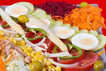 Racion of fresh vegetables