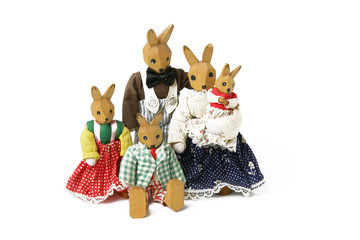 Family of toy rabbits