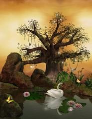 Wall Mural - Enchanted nature series - romantic lake