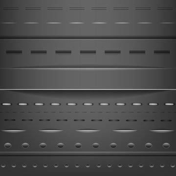 Black set of web dividers