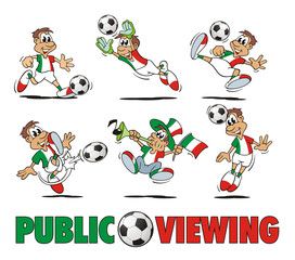 Soccer Italy Cartoon Set