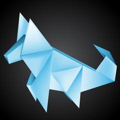 Origami paper Dog Husky