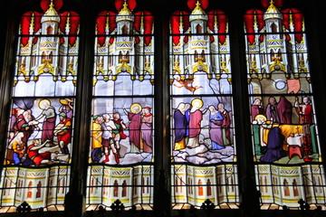 Foto op Plexiglas Stained Paris - Église Saint-Étienne-du-Mont