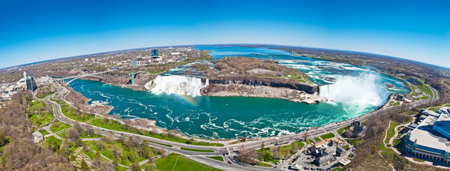 Panorama of the Niagara Falls